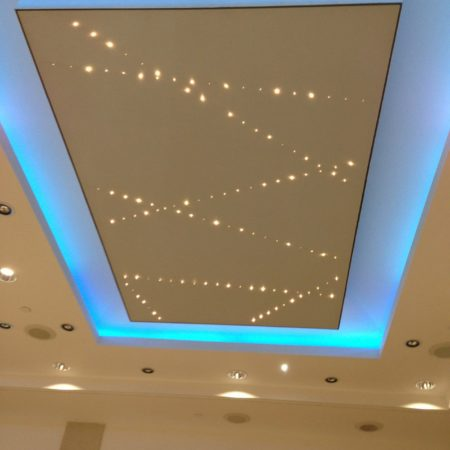 Light Stretch Ceiling Installation