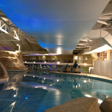 Swimming Pool Stretch Ceiling Installation